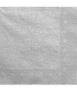 Servietten, silber metallic, dreilagig, 20 Stk., 33 x 33 cm