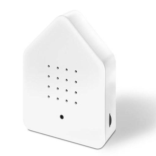 Zwitscherbox Weiß B 110 x H 145 x T 35mm Plexiglas Seite