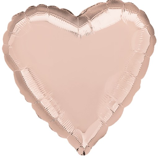 45cm Herz Metallic Rose-Gold Folienballon