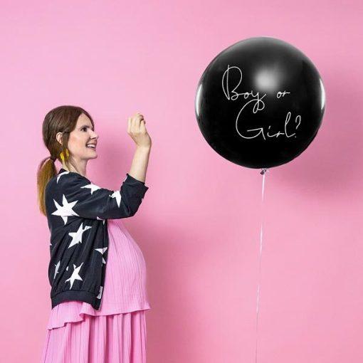 Ballon, Ueberraschungsballon, Gender Reveal,- Boy. 1m, 02