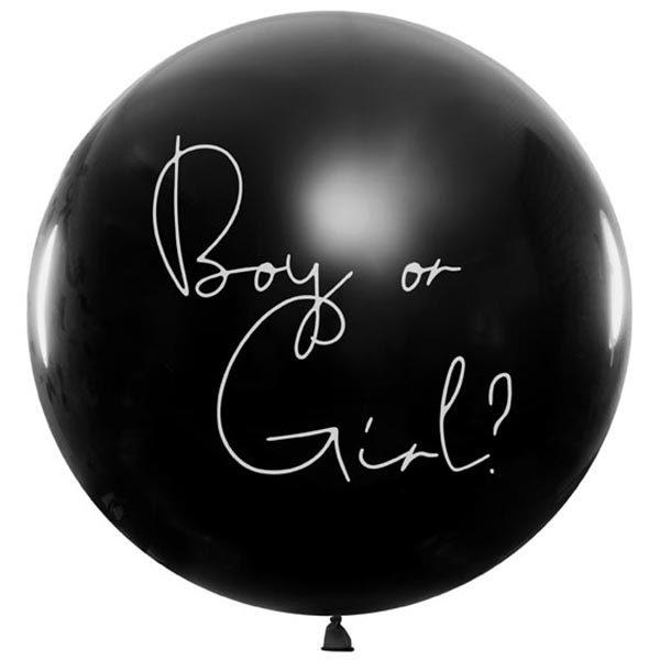 Ballon, Ueberraschungsballon, Gender Reveal,- Girl. 1m, 01