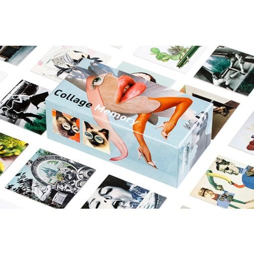 Collage Memory Spiel, Box, 60 Karten, 145x75mm, Box und Karten 2