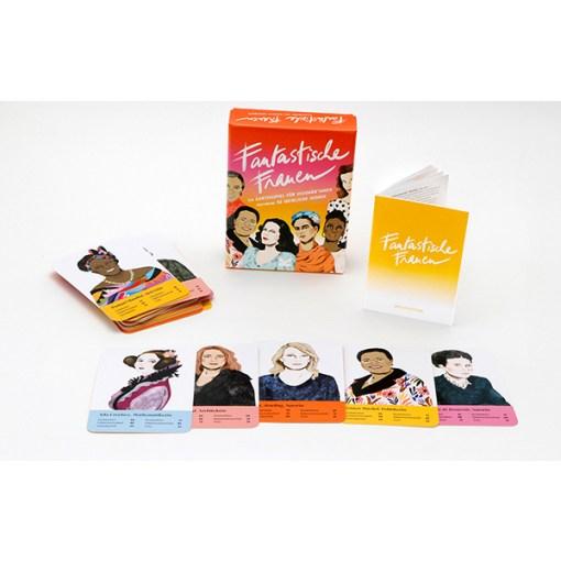 Fantastische Frauen, Kartenspiel, Box, 32 Karten, 119x158x40mm, Box, Booklet und Karten 4