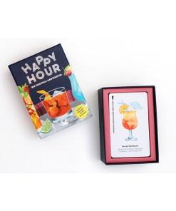Happy Hour, Ein Cocktail-Spiel, Box, 52 Karten, 100x140x50mm, Box offen