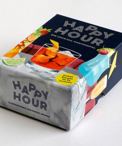 Happy Hour, Ein Cocktail-Spiel, Box, 52 Karten, 100x140x50mm, Box seitlich