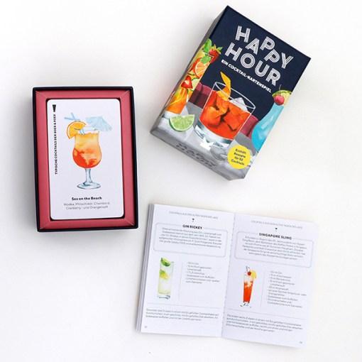 Happy Hour, Ein Cocktail-Spiel, Box, 52 Karten, 100x140x50mm, Box und Booklet