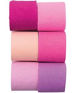 Kreppbaender Packung pink Mix, 3,5 CM X 10 M, 6 STK