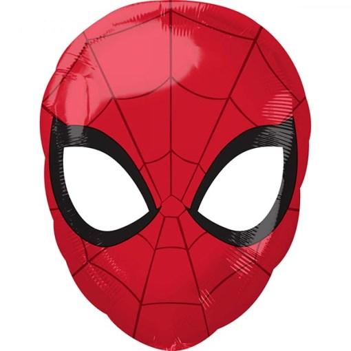 Spider Man Kopf, Folienballon, 30 x 43cm