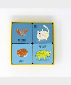Wem gehoert der Haufen, Memo-Spiel, Box 54 Karten, 131x131mm, ab 3 Jahren, Box offen 2