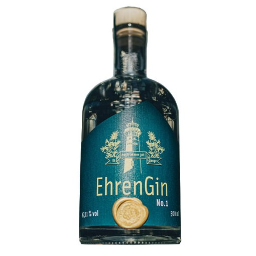 Ehrengin Flasche freigestellt