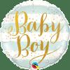 Baby Boy, Folienballon, rund, 45cm