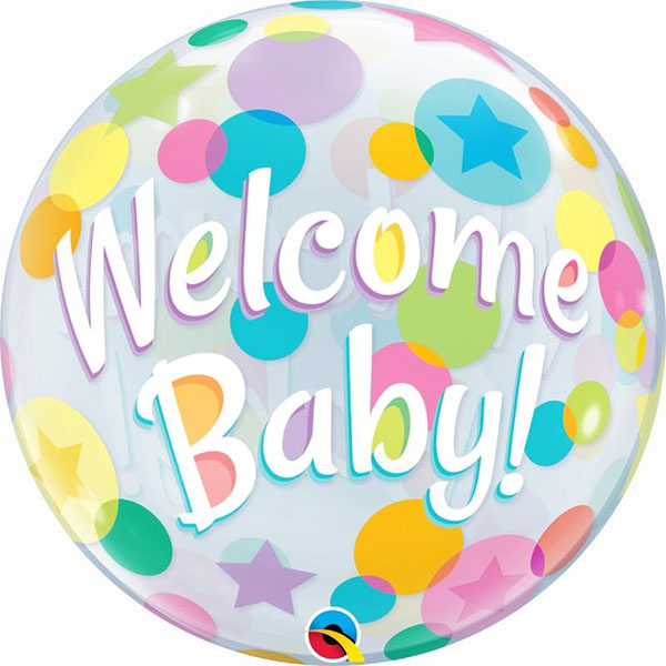 Bubble, Welcome Baby, Colourful Dots, 56cm