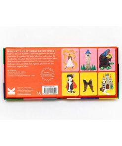 Das Maerchen Memo, Box, 45 Karten und Booklet, 235 x 125 x 34 mm, Box Rueckseite