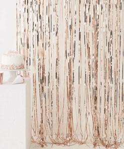 Fransenvorhang, Folie roségold, B 1 x L 2,5 m