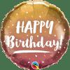 Happy Birthday Gold & Rose Gold Ombre, Folienballon, rund, 45cm
