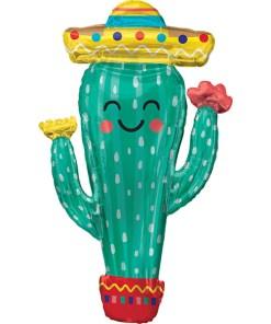 Happy Kaktus, Folienballon, 60 x 96 cm