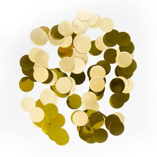 Konfetti XL, große Punkte D 2,5 cm, Folie und Papier, gold, 14 g, Bild 1