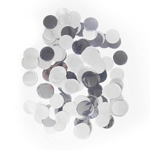 Konfetti XL, große Punkte D 2,5 cm, Folie und Papier, silber, 14 g