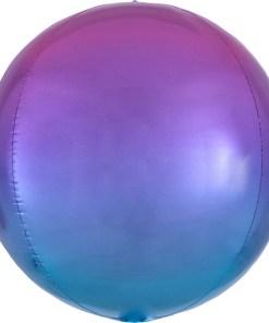 Kugel rot blauFolienballon, 40cm