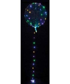 Leucht-Bubble transparent, LED-Microlichterkette bunt, 2xAA-Batterie NICHT enthalten, D 40 cm