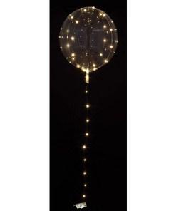 Leucht-Bubble transparent, LED-Microlichterkette weiss, 2xAA-Batterie NICHT enthalten, D 40 cm