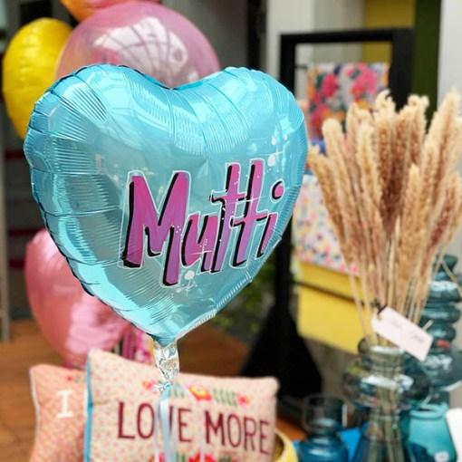 Muttiblumenballons Beispielbild mit kleinem Herz