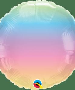 Pastel ombre, Folienballon, rund, 45cm