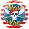Pirate Party, runder Folienballon mit Piratenflagge, 45cm