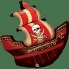 Piratenschiff, Folienballon, B102cm