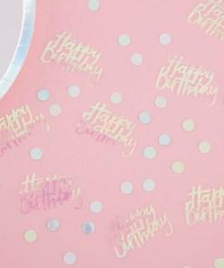 Schriftzug-Konfetti Happy Birthday, irsis-transp. + Pappkreise pastell, 14 g, Dekobeispiel
