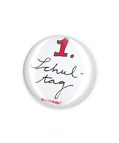 Button, Blech D. 2,5cm, 1. Schultag
