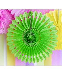 Dekofächer mit Lochmuster, 3er Pack/3 Größen, grün, D 30/25/20 cm Dekobeispiel