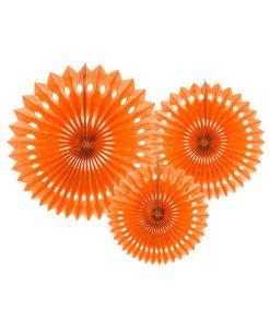 Dekofächer mit Lochmuster, orange D. 30/25/20 cm