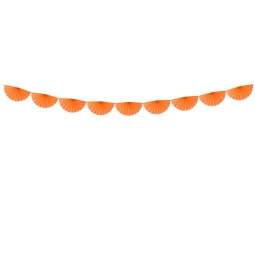 Girlande ''Rosettes'', Halbrosettengirlande, orange, ca. 15 cm x 3m