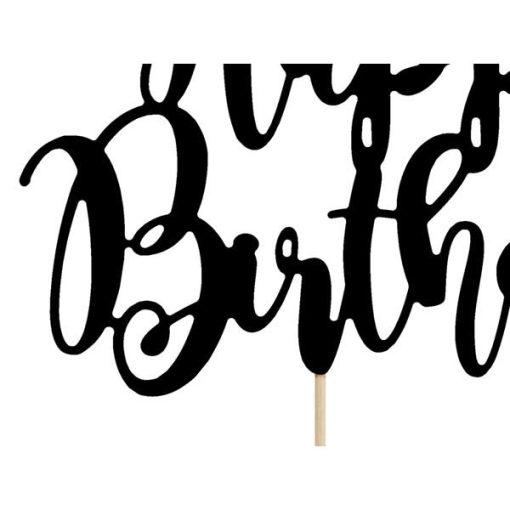 Kuchentopper ''Happy Birthday''-Schriftzug, schwarz, 22,5cm, Detail