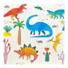 Serviette, ''Dinosaurier Serviette'', verschiedene Tierarten, 33x33