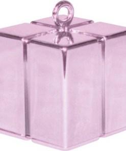 BALLONI, Ballongewicht Geschenkbox, pearl pink, 110g, 6,2cm