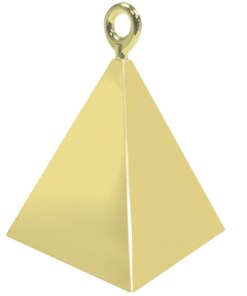 BALLONI, Ballongewicht Pyramide, gold,150g, 6,2cm