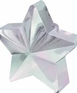 BALLONI, Ballongewicht Stern, Plastik glaenzend irisierend, 150g, D 9 cm