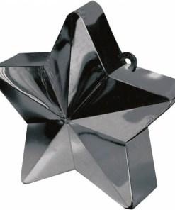 BALLONI, Ballongewicht Stern, Plastik glaenzend schwarz, 150g, D 9 cm