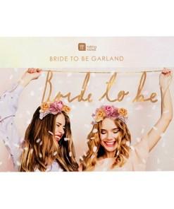 Girlande ''Bride to be'' 1,2m