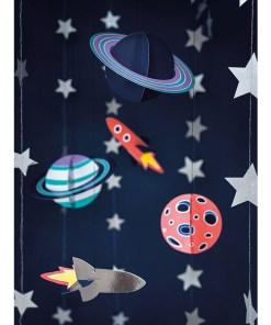 Haengedekoration ''Space Party'', Planeten und Raumschiffe, 5er Pack, 3,5 - 16,5 cm, Dekobeispiel