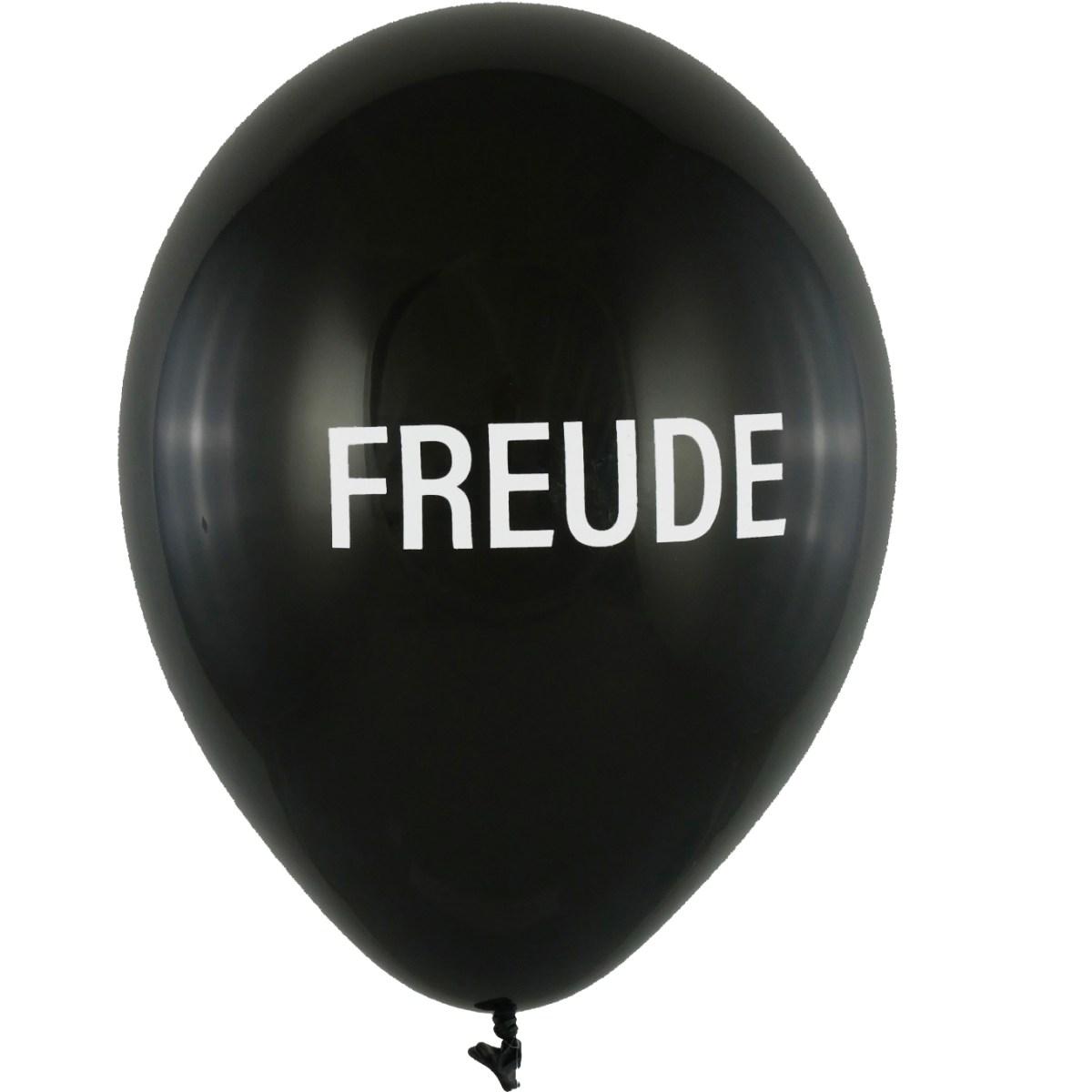 BALLONI DESIGN, Latexballon 28cm Freude schwarz