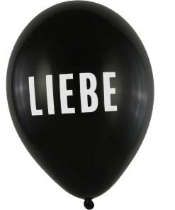 BALLONI DESIGN Latexballon 28cm Liebe schwarz