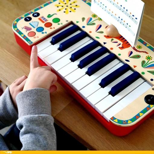 Animambo Synthesizer, Keyboard, Holz, Kunststoff, bunt, Tiger, 36,5 x 19 x 5 cm, Beispielbild