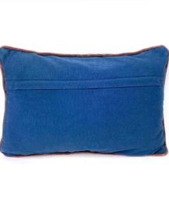 Kissen ''Tess'', Bezug inklusive Innenkissen, blau, Samt, 100% Baumwolle-Velour, 35 x 50cm, Rueckseite