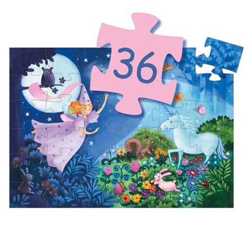 Puzzle ''Fee und Einhorn'', 36 Teile, 42 x 30 cm, Anzahl Teile