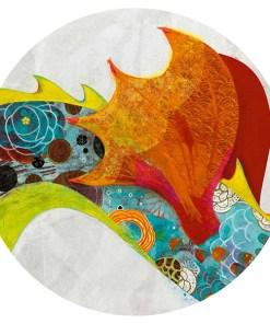 Silhouetten-Puzzle ''Leon der Drache'', 58 Teile, B 1,38 m, Detail