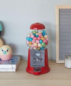 Kaugummiautomat American Dream, nostalgisch, rot, Metall, Glas, 23x11,5x12,5 cm, Dekobeispiel