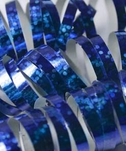 Luftschlange, holographisch-blau, 3,8 m, Beispielbild